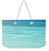 Turquoise Blue Carribean Water Weekender Tote Bag