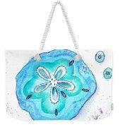 Turquoise Blue Sand Dollar Shells Weekender Tote Bag