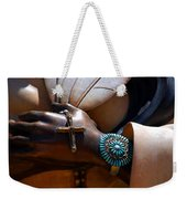 Turquoise Bracelet  Weekender Tote Bag by Susanne Van Hulst