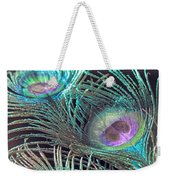 Turquoise Feather Weekender Tote Bag