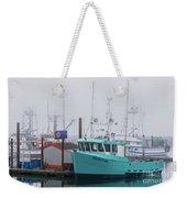 Turquoise Fishing Boat Weekender Tote Bag