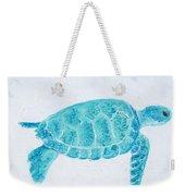 Turquoise Marine Turtle Weekender Tote Bag