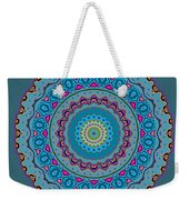 Turquoise Necklace Mandala Weekender Tote Bag