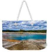 Turquoise Pool, Yellowstone Weekender Tote Bag