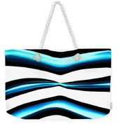 Turquoise Teal Abstract Lines Weekender Tote Bag