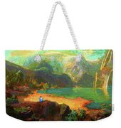 Turquoise Tranquility Meditation Weekender Tote Bag