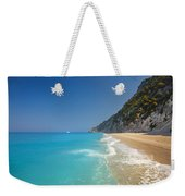 Turquoise Water Paradise Beach Weekender Tote Bag