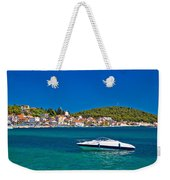 Turquoise Waterfront Of Rogoznica Tourist Destination Weekender Tote Bag