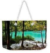 Turquoise Waters Of Milanovac Lake Weekender Tote Bag