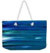 Turquoise Waves Weekender Tote Bag