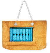 Turquoise Window Shutter Weekender Tote Bag