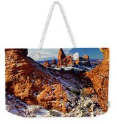 Turret Arch Through North Window Arches National Park Utah Weekender Tote Bag