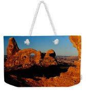 Turret Arch Through North Window Weekender Tote Bag