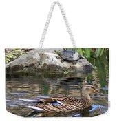 Turtle And Duck Weekender Tote Bag