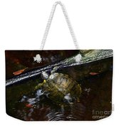 Turtle And The Stick Weekender Tote Bag