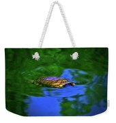 Turtle Coming Up For Air 003 Weekender Tote Bag