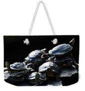 Turtle Family Weekender Tote Bag