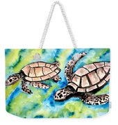 Turtle Love Pair Of Sea Turtles Weekender Tote Bag