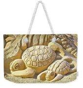 Turtle Sand Castle Sculpture On The Beach 999 Weekender Tote Bag