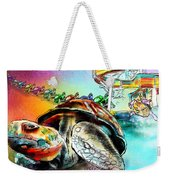 Turtle Slide Weekender Tote Bag