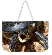 Turtle With His Mouth Wide Open  Weekender Tote Bag