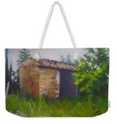 Tuscan Abandoned Farm Shed Weekender Tote Bag