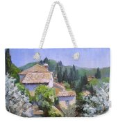 Tuscan  Hilltop Village Weekender Tote Bag