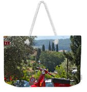 Tuscan Landscape And Scooter Weekender Tote Bag