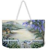 Tuscan Pond And Wisteria Weekender Tote Bag