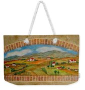Tuscan Scene Brick Window Weekender Tote Bag