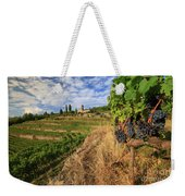 Tuscan Vineyard And Grapes Weekender Tote Bag