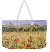 Tuscany Poppies Weekender Tote Bag by Nadine Rippelmeyer