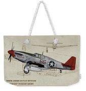 Tuskegee P-51b By Request - Profile Art Weekender Tote Bag