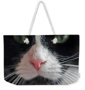 Tuxedo Cat Whiskers And Pink Nose Weekender Tote Bag