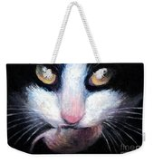 Tuxedo Cat With Mouse Weekender Tote Bag