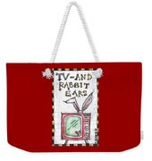Tv And Rabbit Ears Weekender Tote Bag