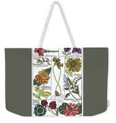 Twelve Month Flower Box Weekender Tote Bag by Barbara McConoughey