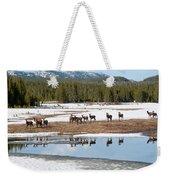 Twice The Elk Weekender Tote Bag