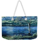 Twilight At The River Weekender Tote Bag