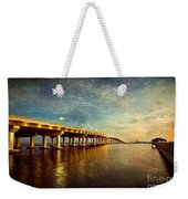 Twilight Biloxi Bridge Weekender Tote Bag