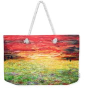 Twilight Bounds Softly Forth On The Wildflowers Weekender Tote Bag