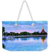 Twilight City Lake View Weekender Tote Bag