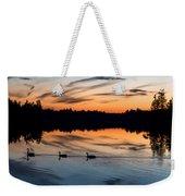 Twilight Lake Swim New Jersey Weekender Tote Bag