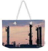 Twilight Over Petrochemical Plant Weekender Tote Bag