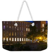 Twilight Over The Cocheco Mills Dover New Hampshire Weekender Tote Bag