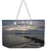 Twilight Steaming Into Charleston Harbor Weekender Tote Bag