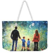 Twilight Walk Family Two Sons Weekender Tote Bag