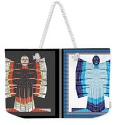 Twin Buttefly Sisters One Angel Other Evil  Blue Moon Butterfly Womens Fashion Couture From Jaipur  Weekender Tote Bag