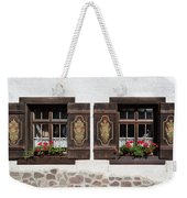 Twin Decorated Windows Weekender Tote Bag