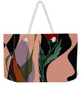 Twin Fire Flower Head 2 Weekender Tote Bag by Navo Art